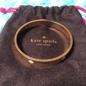 kate spade Jewelry - New Kate Spade New York Gold Spade bangle
